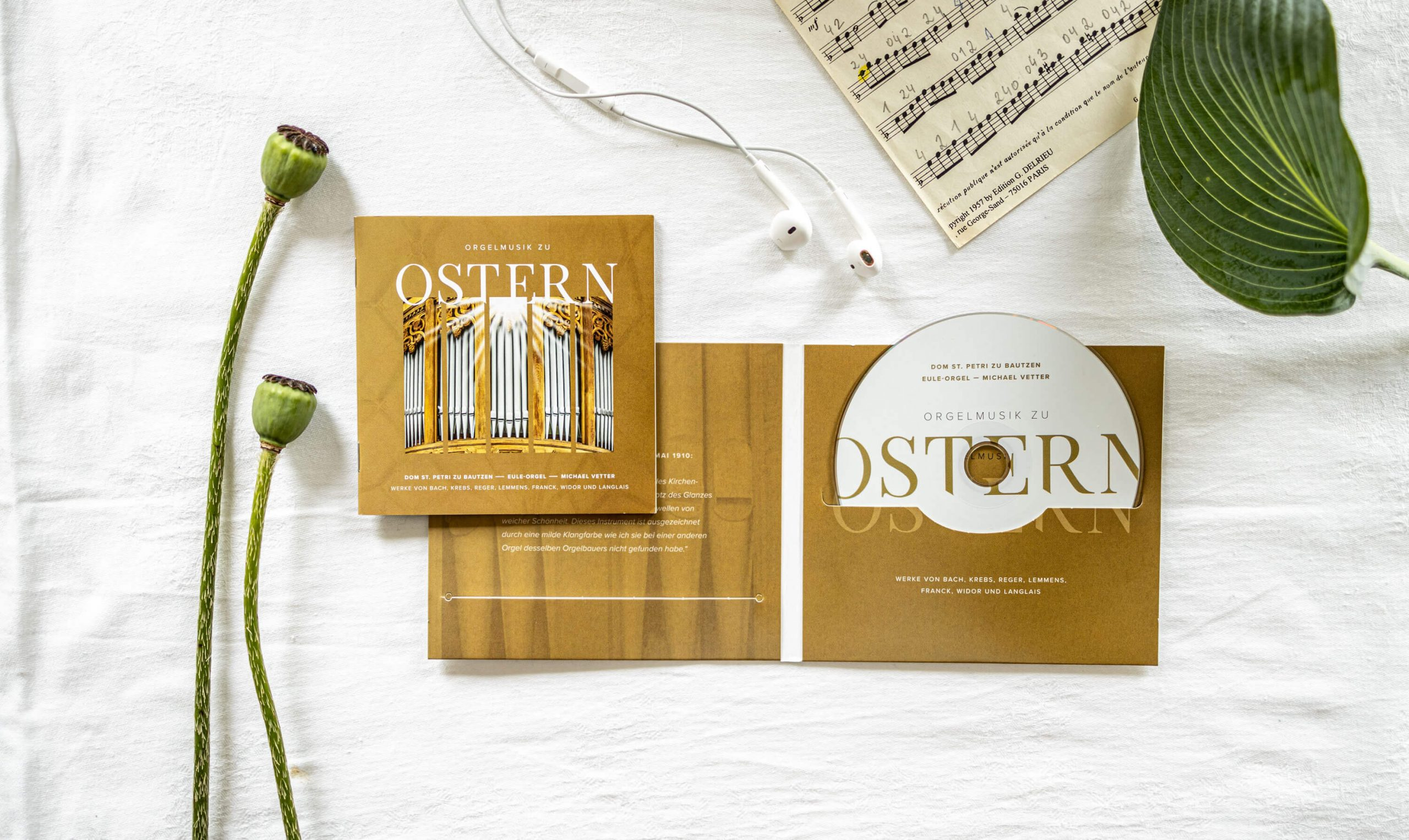 CD-Gestaltung — Eule Orgel im Dom St. Petri Bautzen